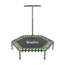 Easily Adjustable Handrail Low-impact Fitness Trampoline TR-003 -Vigor
